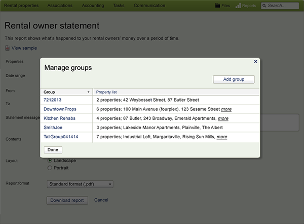 Final screen for manage groups-manage groups